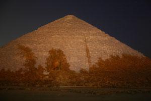 Full Moon Shadows on the Pyramid